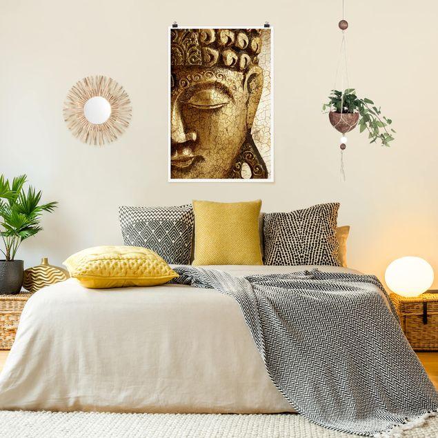 Poster - Vintage Buddha - Hochformat 3:2
