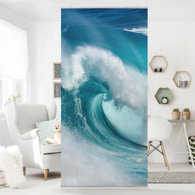 Raumteiler - Tosende Wellen 250x120cm