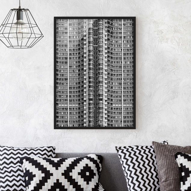 Bild mit Rahmen - Skyscraper - Hochformat 3:4
