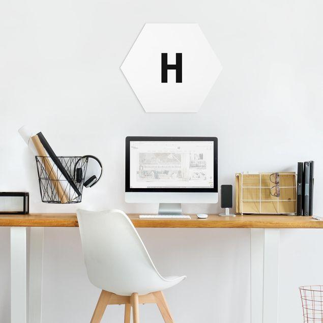 Hexagon Bild Forex - Buchstabe Weiß H