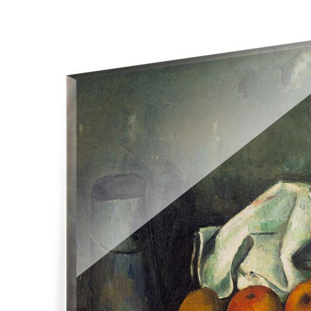 Glas Spritzschutz - Paul Cézanne - Milchkanne und Äpfel - Querformat - 4:3
