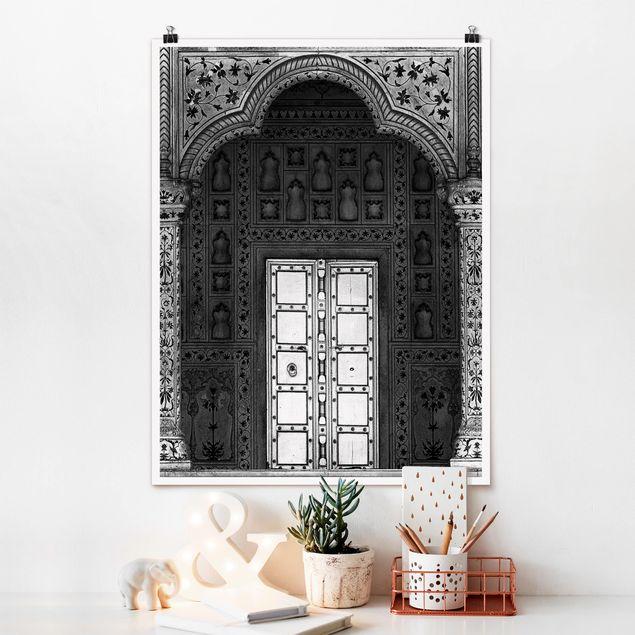 Poster - White Door - Hochformat 3:4