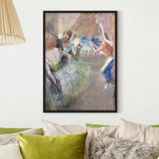 Bild mit Rahmen - Edgar Degas - Ballettszene - Hochformat 3:4