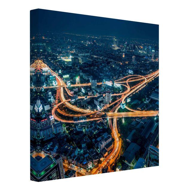 Leinwandbild - Eine Nacht in Bangkok - Quadrat 1:1