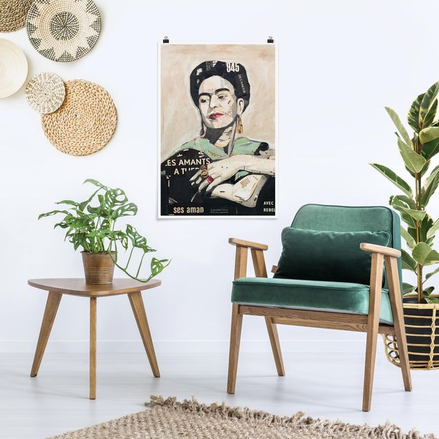 Poster - Frida Kahlo - Collage No.4 - Hochformat 3:2
