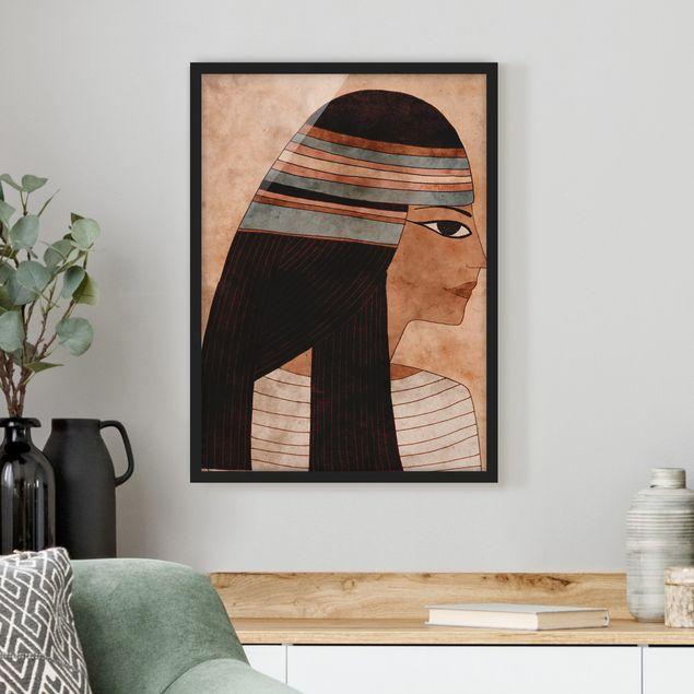 Bild mit Rahmen - Cleopatra - Hochformat 3:4