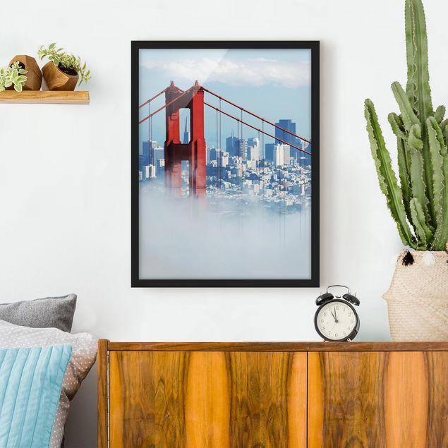 Bild mit Rahmen - Good Morning San Francisco! - Hochformat 3:4