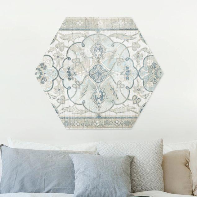 Hexagon Bild Forex - Holzpaneel Persisch Vintage II