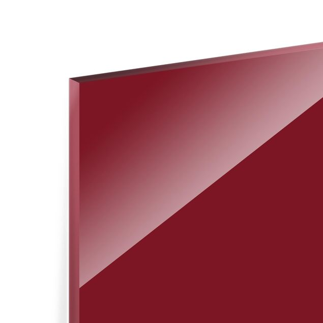 Glas Spritzschutz - Aubergine - Querformat - 4:3
