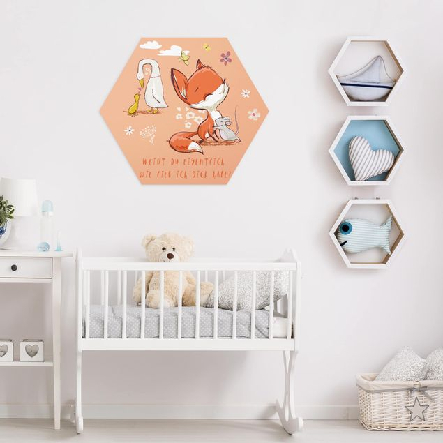 Hexagon Bild Alu-Dibond - Weißt du eigentlich wie lieb ich dich habe