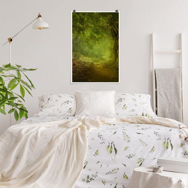 Poster - Waldspaziergang - Hochformat 3:2