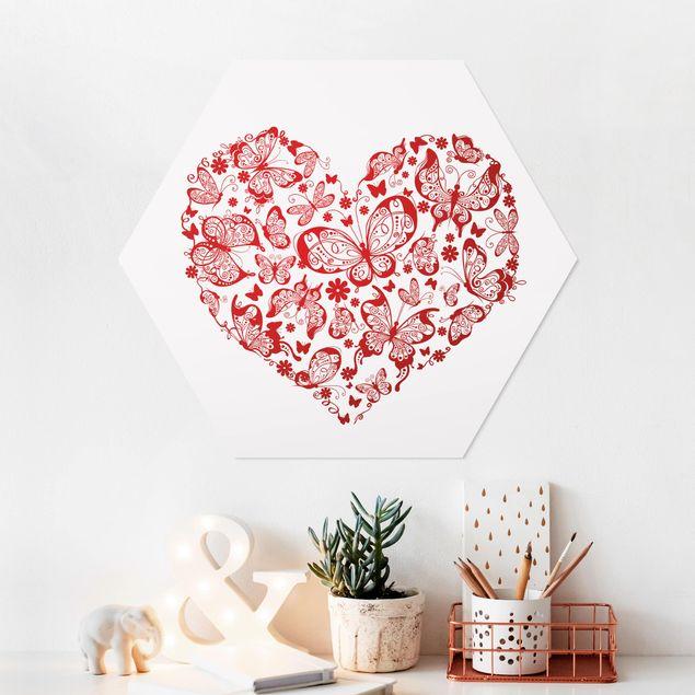 Hexagon Bild Forex - Herz aus Schmetterlingen