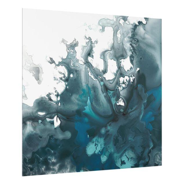 Glas Spritzschutz - Ägäisches Unwetter I - Quadrat - 1:1