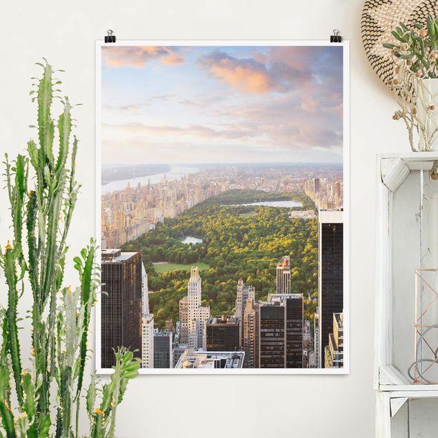 Poster - Blick über den Central Park - Hochformat 3:4