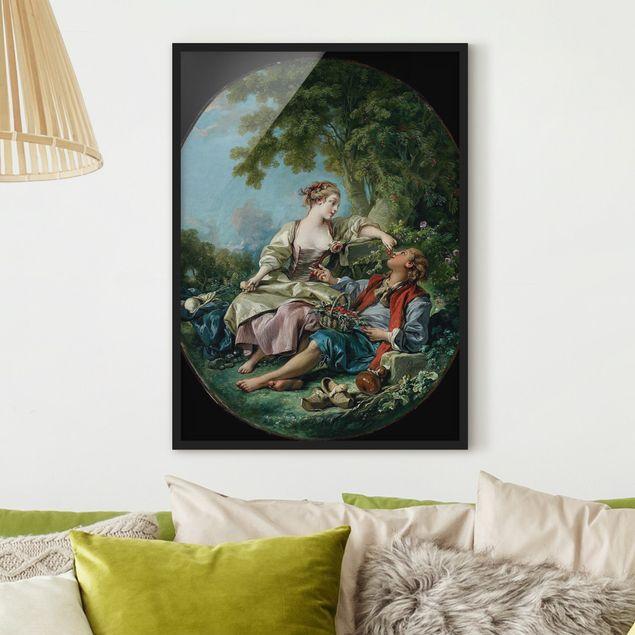Bild mit Rahmen - François Boucher - Die Holzschuhe - Hochformat 3:4