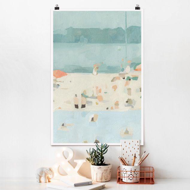 Poster - Sandbank im Meer II - Hochformat 3:2