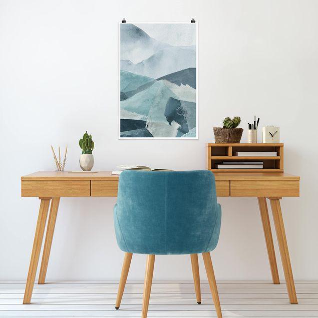 Poster - Wogen in Blau III - Hochformat 3:2