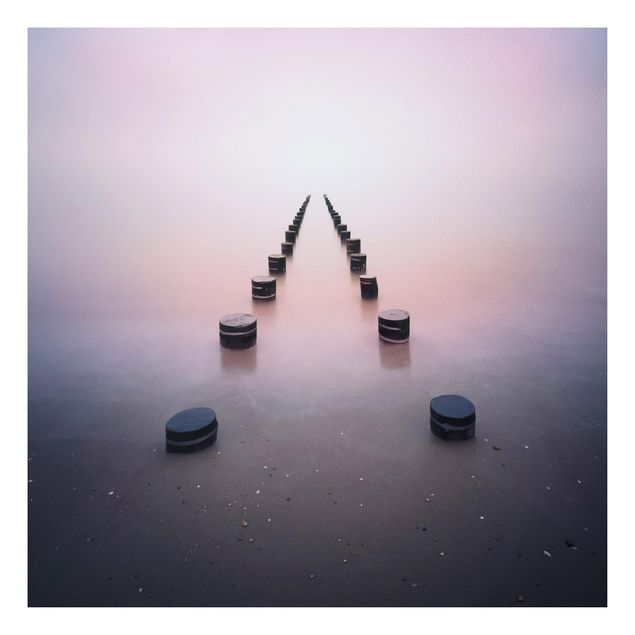 Forex Fine Art Print - Zen am Strand - Quadrat 1:1