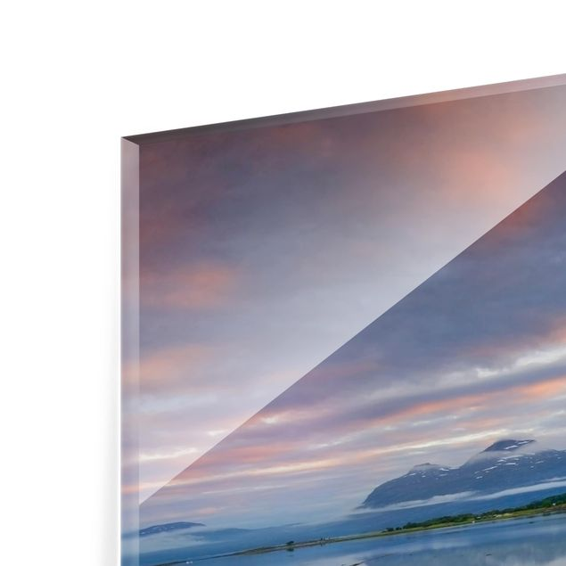 Glas Spritzschutz - Norwegische Idylle - Quadrat - 1:1