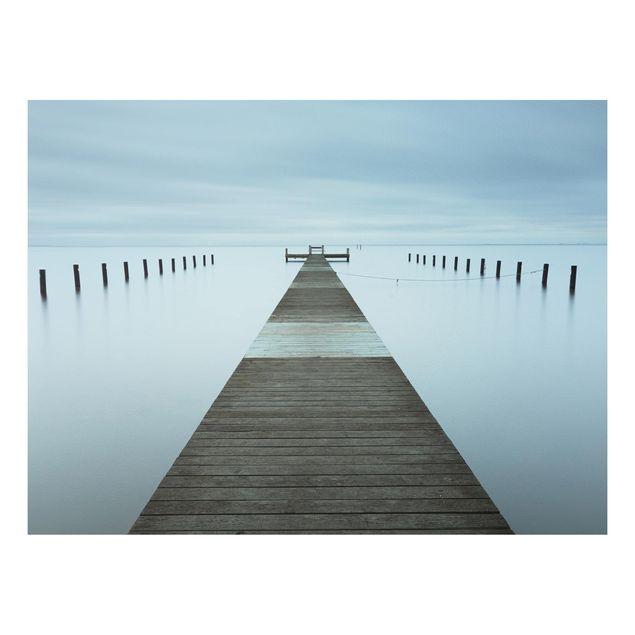 Forex Fine Art Print - Pier in Schweden - Querformat 3:4