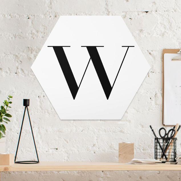 Hexagon Bild Forex - Buchstabe Serif Weiß W