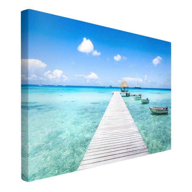 Leinwandbild - Urlaub in den Tropen - Querformat 3:2