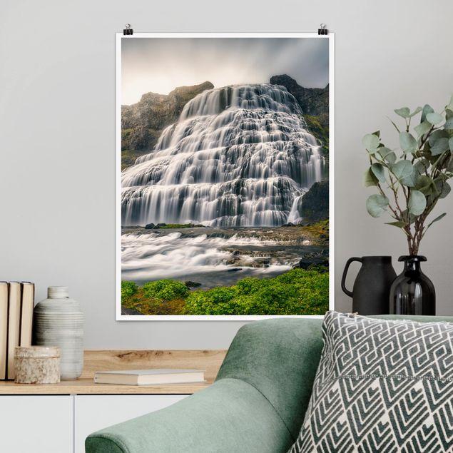 Poster - Dynjandi Wasserfall - Hochformat 3:4