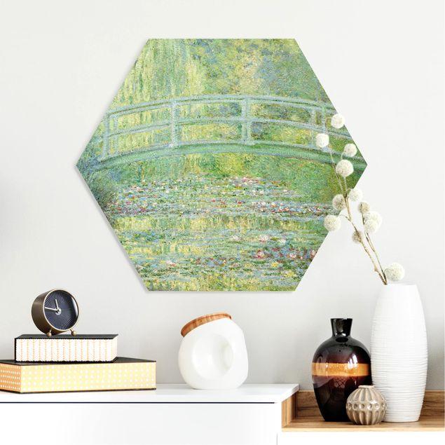 Hexagon Bild Forex - Claude Monet - Japanische Brücke