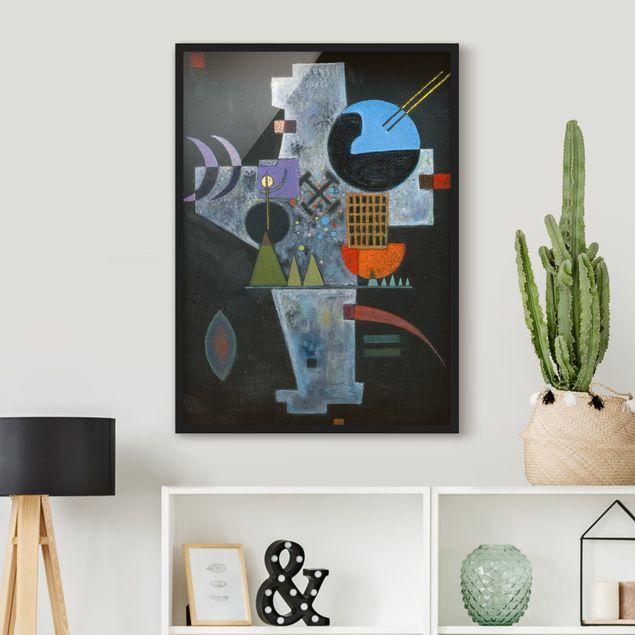 Bild mit Rahmen - Wassily Kandinsky - Kreuzform - Hochformat 3:4