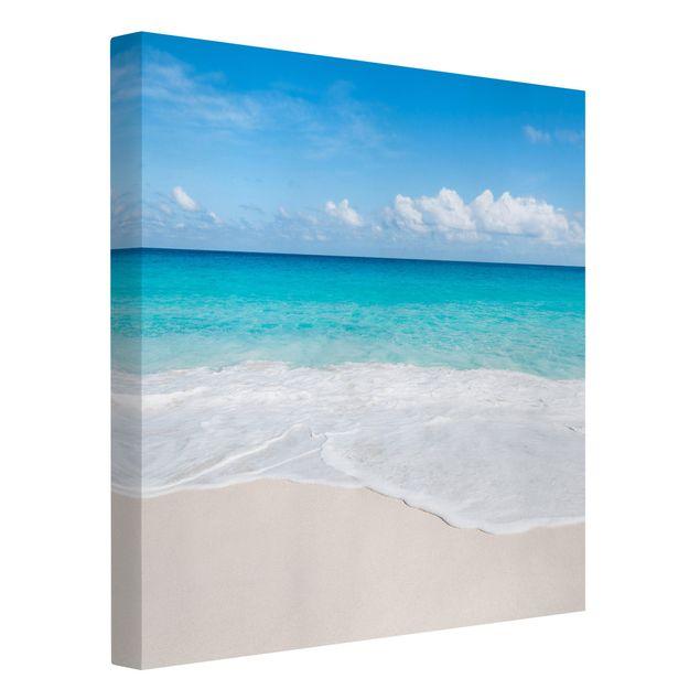 Leinwandbild - Blaue Welle - Quadrat 1:1