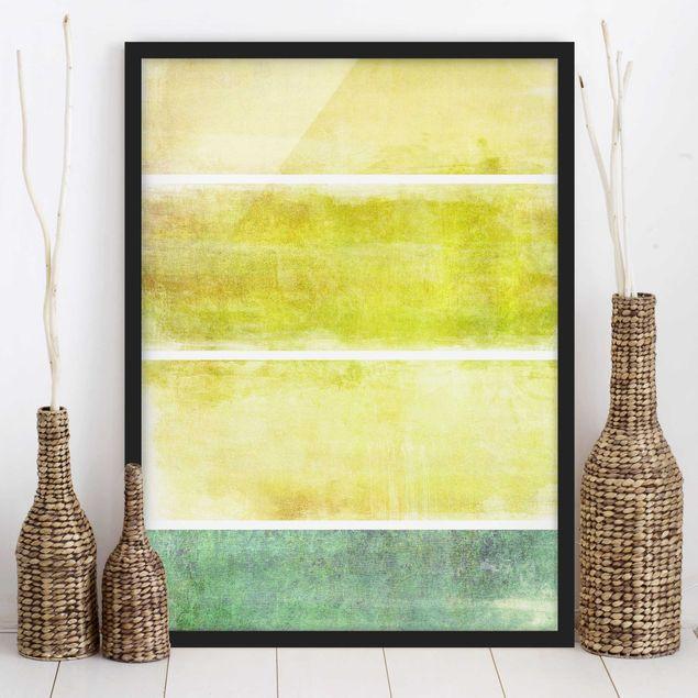 Bild mit Rahmen - Colour Harmony Yellow - Hochformat 3:4