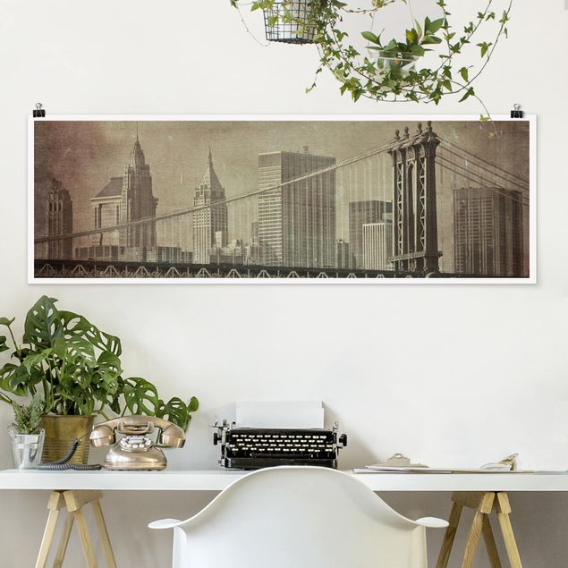 Poster - Vintage New York City - Panorama Querformat