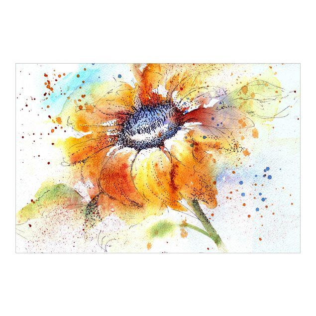 Fototapete Painted Sunflower
