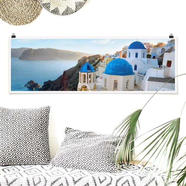 Poster - Santorini - Panorama Querformat