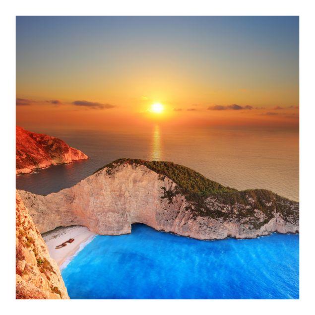 Fototapete Sonnenuntergang über Zakynathos