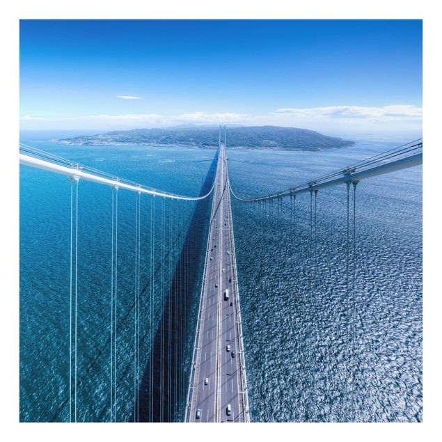 Glas Spritzschutz - Brücke zur Insel - Quadrat - 1:1