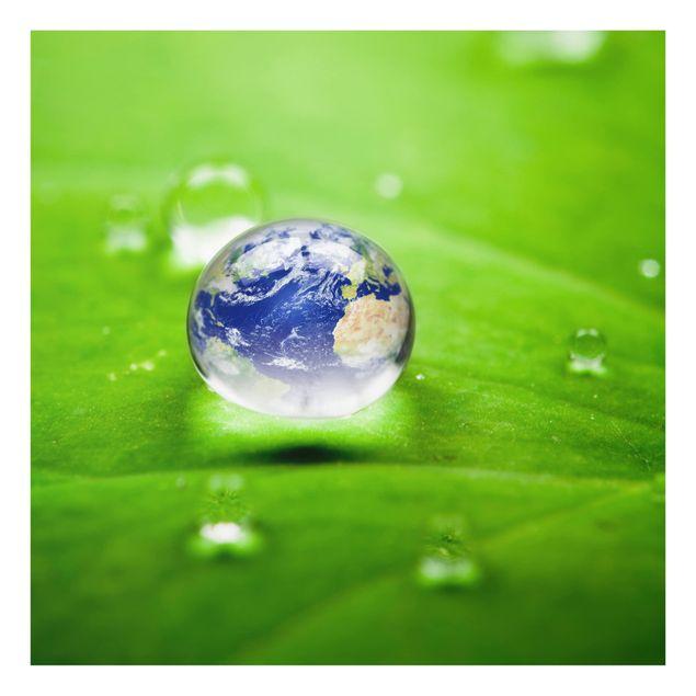 Glas Spritzschutz - Save the Planet - Quadrat - 1:1