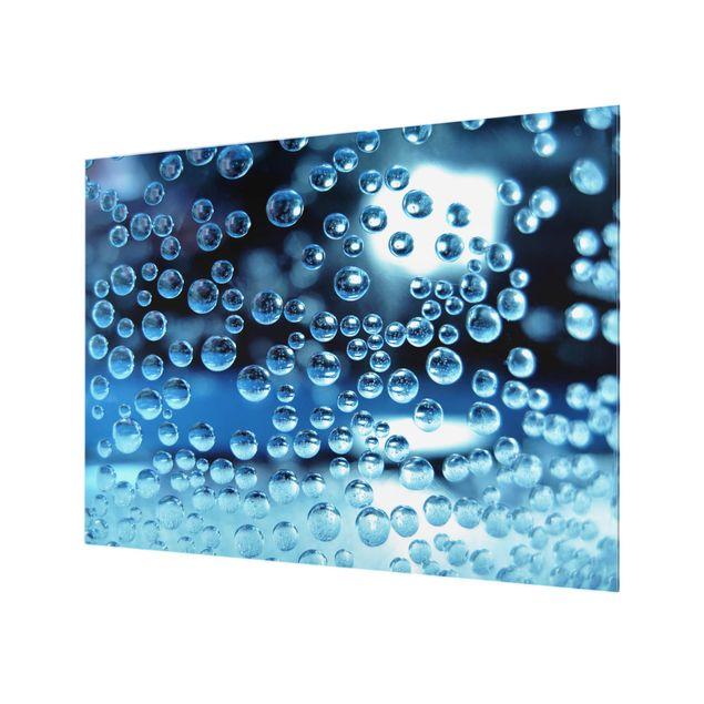 Glas Spritzschutz - Dark Bubbles - Querformat - 4:3
