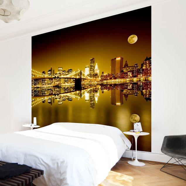 Fototapete Goldenes New York