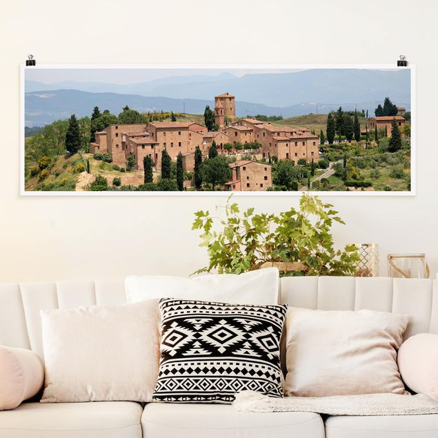Poster - Charming Tuscany - Panorama Querformat