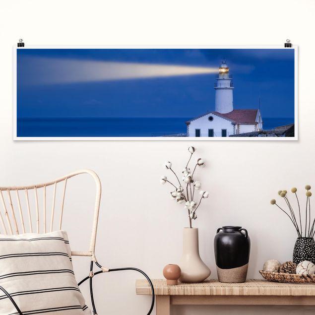 Poster - Lighthouse At Far De Capdepera - Panorama Querformat