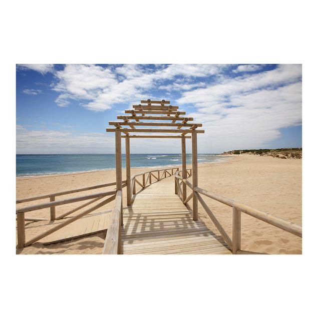 Fototapete Strandpfad zum Meer in Andalusien