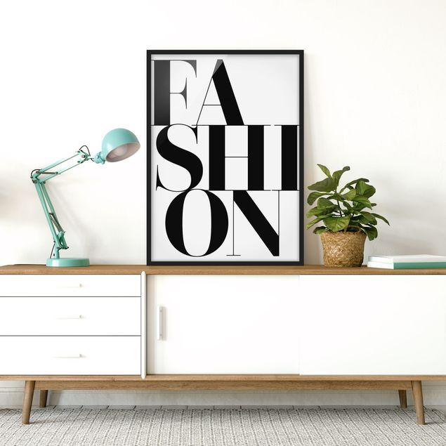 Bild mit Rahmen - FASHION - Hochformat 3:4