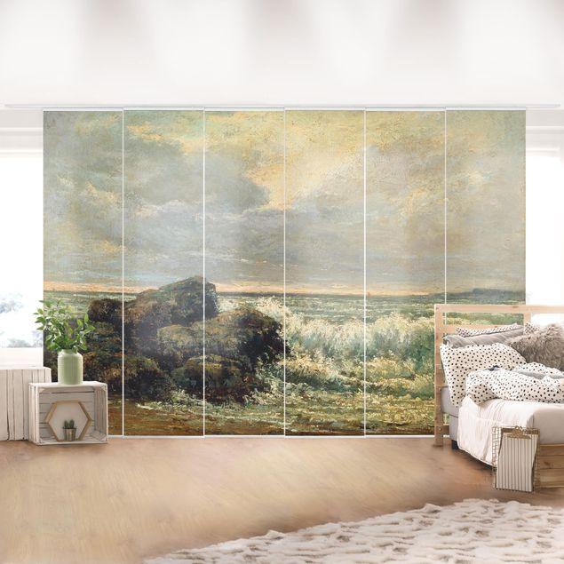 Schiebegardinen Set - Gustave Courbet - Die Welle - Flächenvorhänge