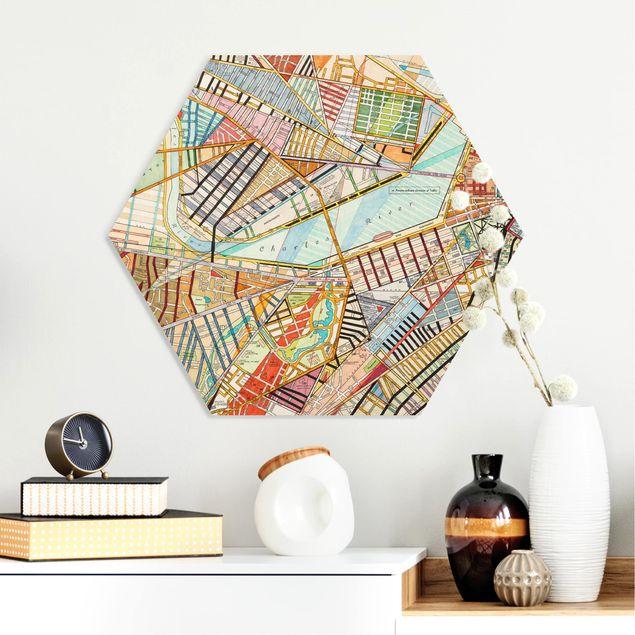 Hexagon Bild Forex - Moderne Karte von Boston