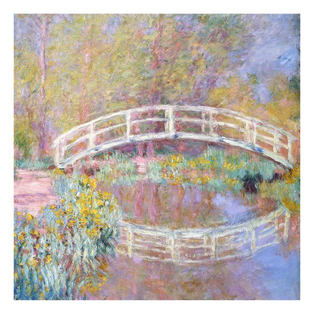 Glas Spritzschutz - Claude Monet - Brücke Monets Garten - Quadrat - 1:1