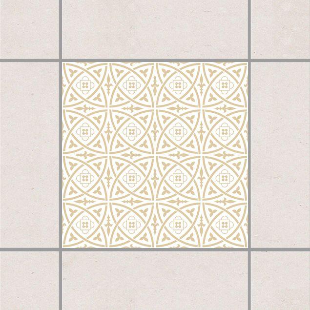 Fliesenaufkleber - Keltisch White Light Brown Braun