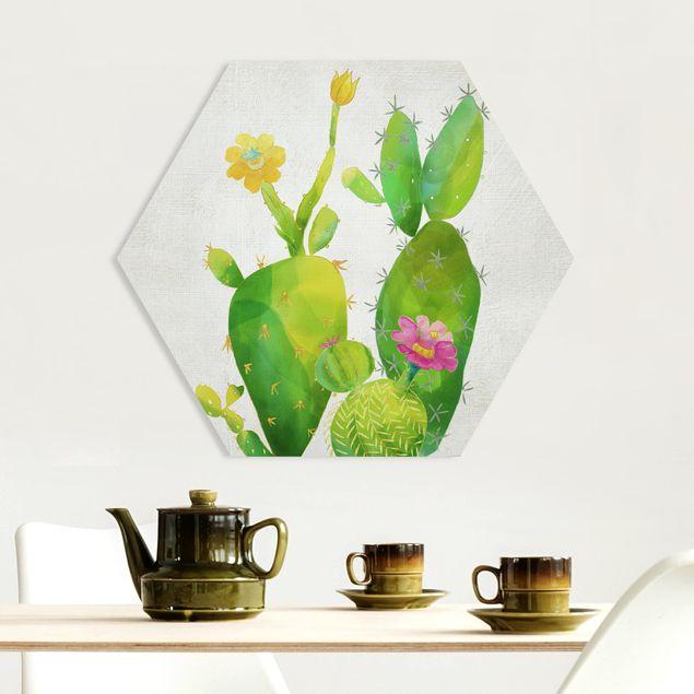 Hexagon Bild Forex - Kaktusfamilie rosa gelb