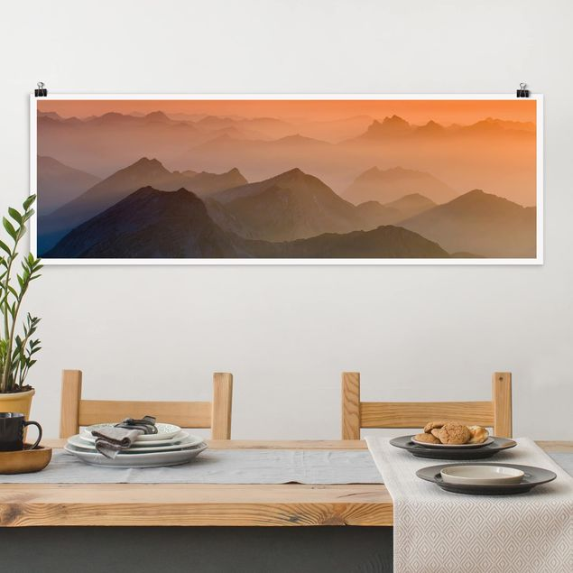 Poster - Blick von der Zugspitze - Panorama Querformat