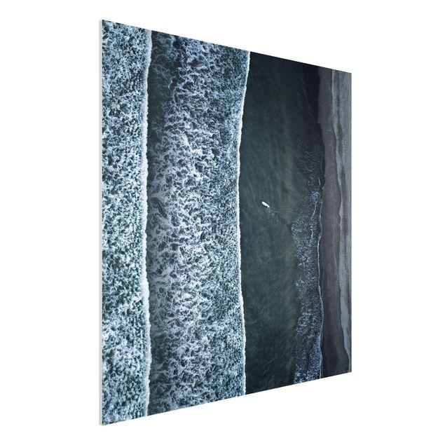 Forex Fine Art Print - Luftbild - Der Herausforderer - Quadrat 1:1
